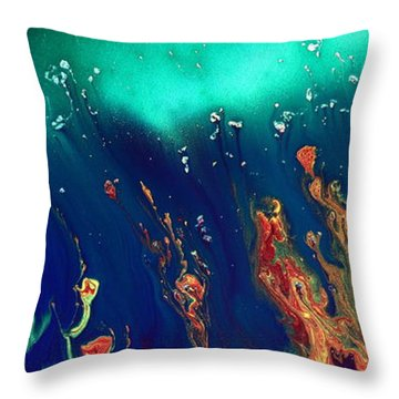 Lost World - Liquid Abstract By Kredart Throw Pillow