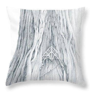 Lothlorien Mallorn Tree Throw Pillow