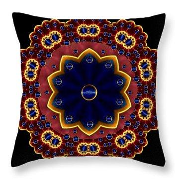 Lotus Bloom Throw Pillow by Pepita Selles