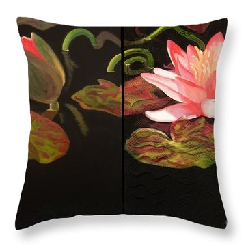 Lotus Bud To Bloom Throw Pillow