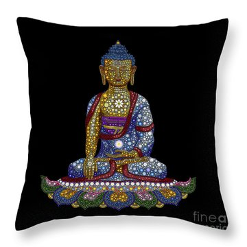 Lotus Buddha Throw Pillow