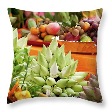 Lotus Buds 02 Throw Pillow