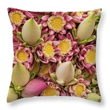 Lotus Buds 03 Throw Pillow