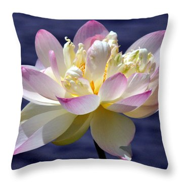 Lotus By The Lake Throw Pillow by Gail Butler