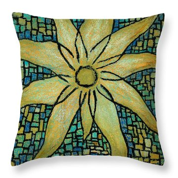 Lotus Throw Pillow by Carla Sa Fernandes