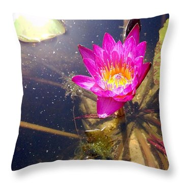 Lotus Day Throw Pillow