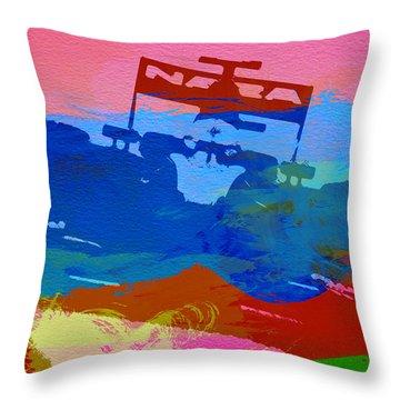 Lotus F1 Throw Pillow by Naxart Studio