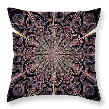 Lotus Gates Throw Pillow by Anastasiya Malakhova