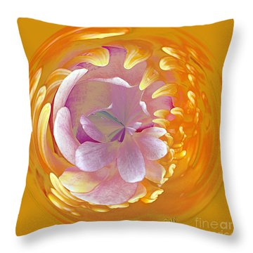 Lotus Go Round Throw Pillow