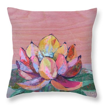 Lotus I Throw Pillow