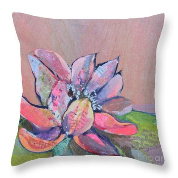 Lotus Iv Throw Pillow
