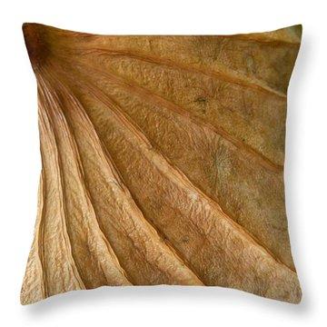 Throw Pillow featuring the photograph Lotus Leaf by Jane Ford