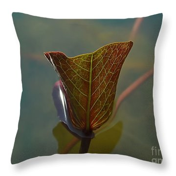 Throw Pillow featuring the photograph Lotus Leaf by Michelle Meenawong