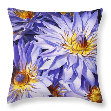 Lotus Light - Hawaiian Tropical Floral Throw Pillow