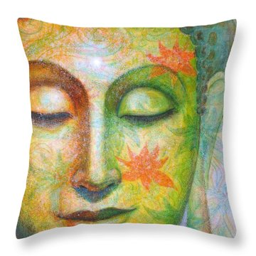 Lotus Meditation Buddha Throw Pillow