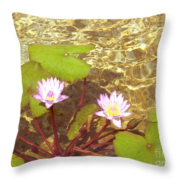 Throw Pillow featuring the photograph Lotus by Mini Arora