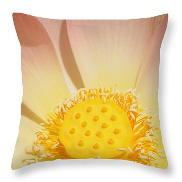 Lotus Number One Throw Pillow