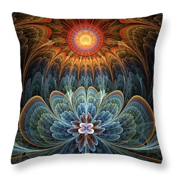 Lotus Rising Throw Pillow by Kim Redd