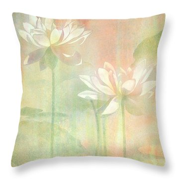 Waterlily Throw Pillows