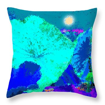 Lotus Sleeping Throw Pillow by John Lautermilch