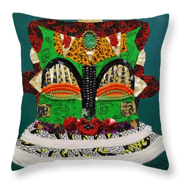 Lotus Warrior Throw Pillow