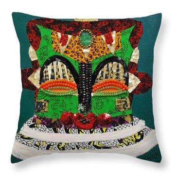 Lotus Warrior Throw Pillow by Apanaki Temitayo M