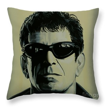 Lou Reed Painting Throw Pillow
