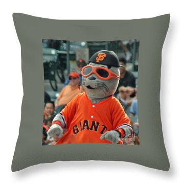 Lou Seal San Francisco Giants Mascot Throw Pillow