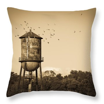 Loudon Water Tower Throw Pillow by Melinda Fawver