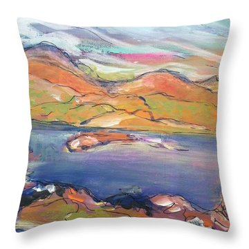 Loughrigg Fell Lake District Throw Pillow