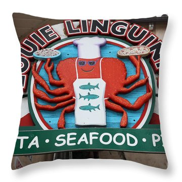 Louie Linguinis On Monterey Cannery Row California 5d24772 Throw Pillow