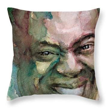 Louis Armstrong Throw Pillow by Laur Iduc