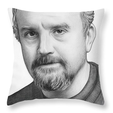 Louis Ck Portrait Throw Pillow