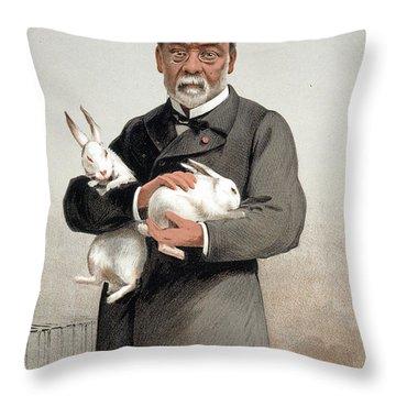 Louis Pasteur Throw Pillow by Granger