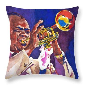 Louis Satchmo Armstrong Throw Pillow