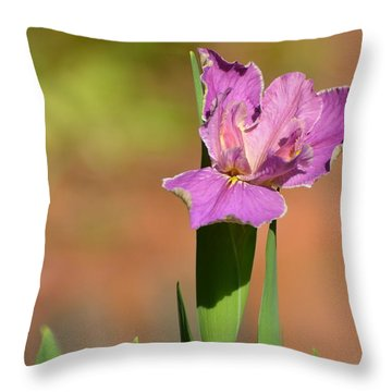 Louisiana Iris Throw Pillow