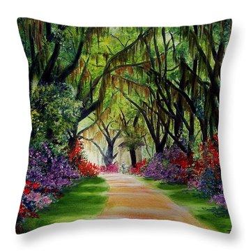 Louisiana Lane Throw Pillow