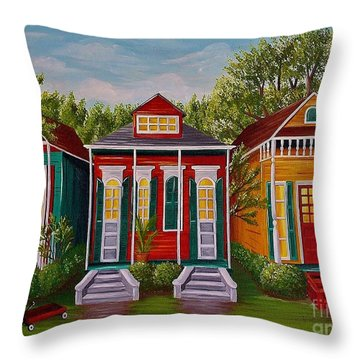 Louisiana Loves Shotguns Throw Pillow