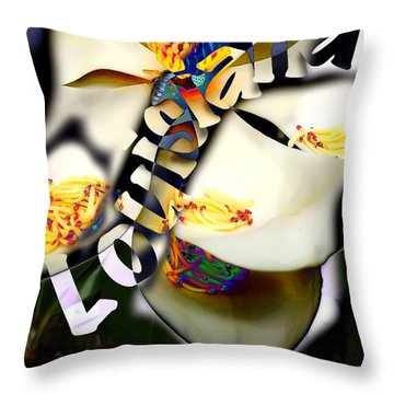 Louisiana Magnoila  Throw Pillow