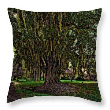 Louisiana Moon Rising Throw Pillow by Steve Harrington