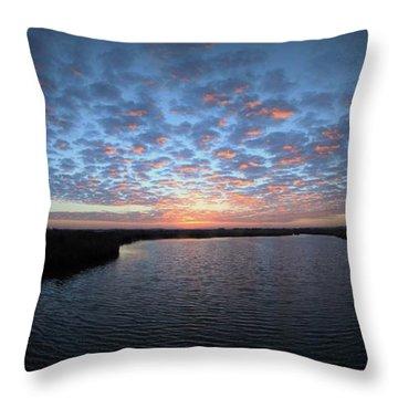 Louisiana Sunrise Throw Pillow