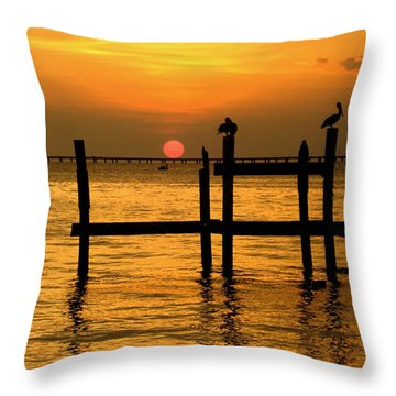 Louisiana Sunset  Throw Pillow
