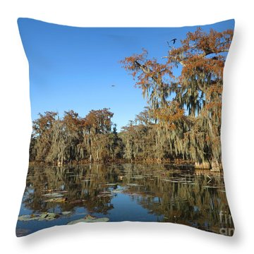 Throw Pillow featuring the photograph Louisiana Swamp by Martin Konopacki