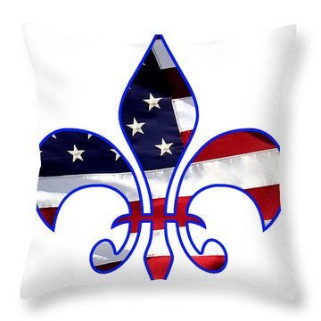 Louisiana Usa Throw Pillow