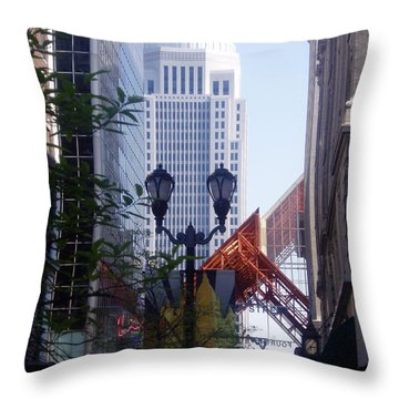 Louisville Buildings 2 Throw Pillow by Jennifer E Doll