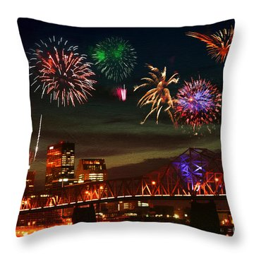 Louisville Kentucky Celebration Throw Pillow
