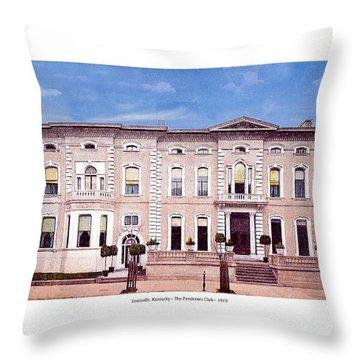 Louisville Kentucky - The Pendennis Club - 1919 Throw Pillow