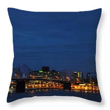 Throw Pillow featuring the photograph Louisville Skyline by Deborah Klubertanz