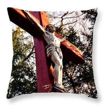 Lourdes Of Litchfield Throw Pillow by Jesse Ciazza