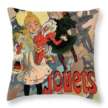 Louvre Jouets Etrennes Throw Pillow